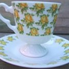 INARCO YELLOW ROSE DEMITASSE CUP & SAUCER SET - JAPAN