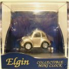 Elgin Collectible Quartz Mini Clock - Silver V W BUG
