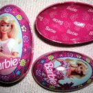 """Russell Stover Candies """"BARBIE"""" Tin Eggs (1996)"""