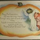 VINTAGE WHITNEY HALLOWEEN POST CARD - GHOSTS & GOBLINS!