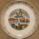 """VINTAGE """"MARYLAND"""" COLLECTOR'S PLATE 50's AMERICAN FLAG"""