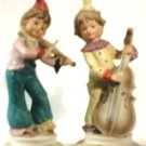 Hand Painted Clown Figurines & Musical Instruments