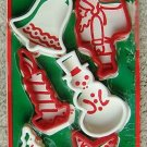 VINTAGE WECOLITE PLASTIC CHRISTMAS COOKIE CUTTERS (6)