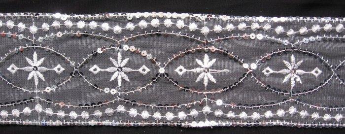 LACE on fabrics - tulle, T/R,  Chiffon
