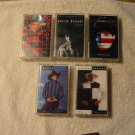 Set of five Garth Brooks cassetts (sold as set only)