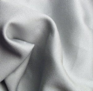 2 Y Organic Cotton Twill  Fabric Soft Silky PEARL GRAY GREY
