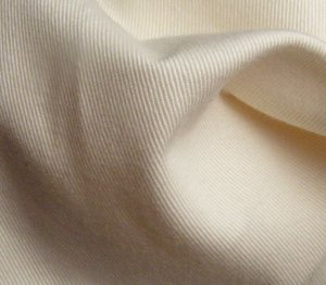2 Y Organic Cotton Twill  Fabric Soft Silky NATURAL