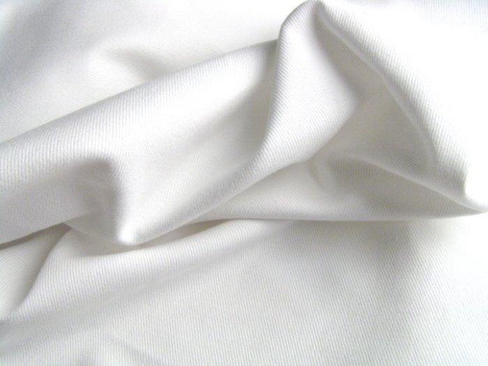 White Twill Denim Slipcover Upholstery Fabric