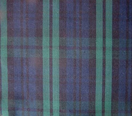 "BLACK WATCH TARTAN/PLAID FABRIC 60"" WIDE"
