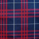 "NAVY RED WHITE TARTAN PLAID FABRIC 60"" WIDE"