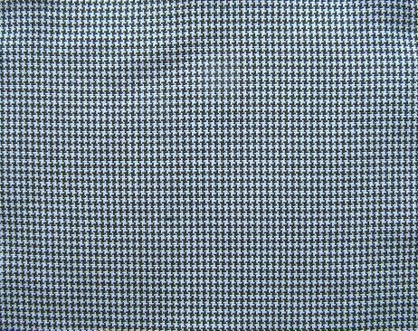 """NAVY BLUE WHITE HOUNDSTOOTH CHECK PLAID FABRIC 60"""" WIDE"""