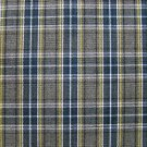 "GRAY BLUE WHITE YELLOW TARTAN PLAID FABRIC 60"" WIDE"
