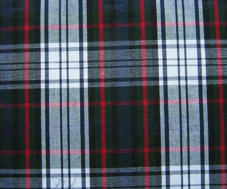 "5 YARDS NAVY GREEN WHITE RED TARTAN PLAID FABRIC 60"" WIDE"