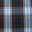 "NAVY GREEN WHITE RED TARTAN PLAID FABRIC 60"" WIDE"