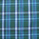 "GREEN WHITE NAVY AQUA BLACK TARTAN PLAID FABRIC 60"" WIDE"