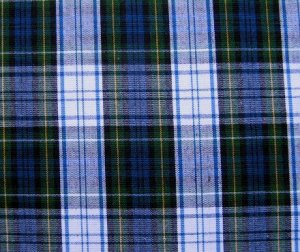 "BLUE GREEN WHITE YELLOW TARTAN PLAID FABRIC 60"" WIDE"