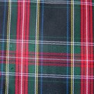 "25 Y STEWART BLACK TARTAN PLAID FABRIC 60"" WIDE"