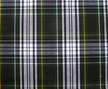 "GORDON DRESS NAVY GREEN WHITE YELLOW TARTAN PLAID FABRIC 60"" WIDE"
