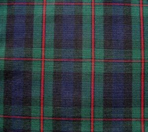 "3 YARDS BLUE GREEN RED TARTAN PLAID FABRIC 60"" WIDE"