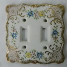 VINTAGE SCARCE RARE VICTORIAN LEFTON PORCELAIN SWITCHPLATE COVER