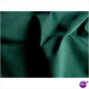 Forest Green Twill Denim Slipcover Upholstery Fabric