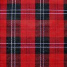 "50 YARDS RED BLACK TARTAN PLAID FABRIC 60"" WIDE"