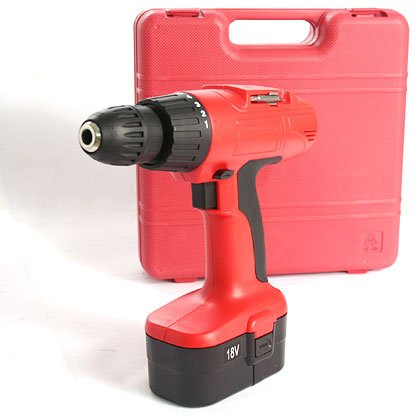 18 Vlt Cordless Drill Kit With Case (red)
