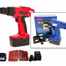 18v Cordless Drill With Free Hss Drill Bit Set