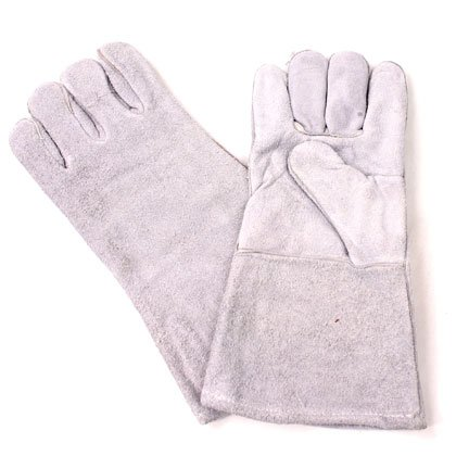 Leather Grey Welding Gloves