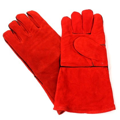 Leather Red Welding Gloves