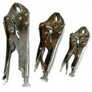 3 Pcs Locking Plier Curved Jaw Set