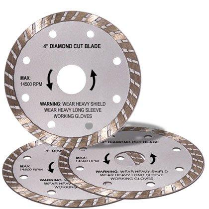 4 Inch Diamond Blade Set of 3