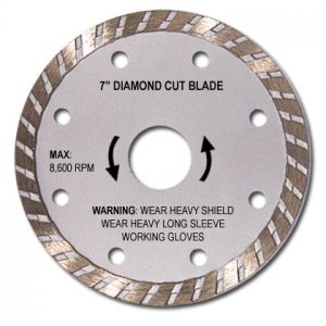 "7"" Diamond Wet Or Dry Cutting Blade"