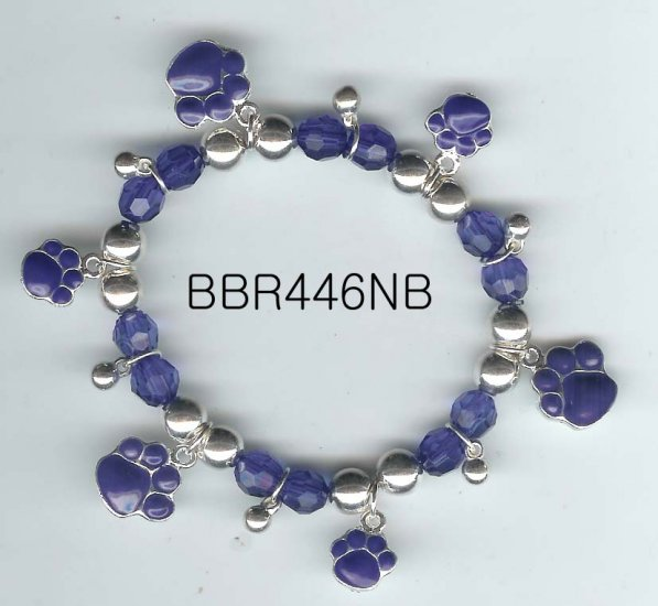 Blue Paw Print Bracelet