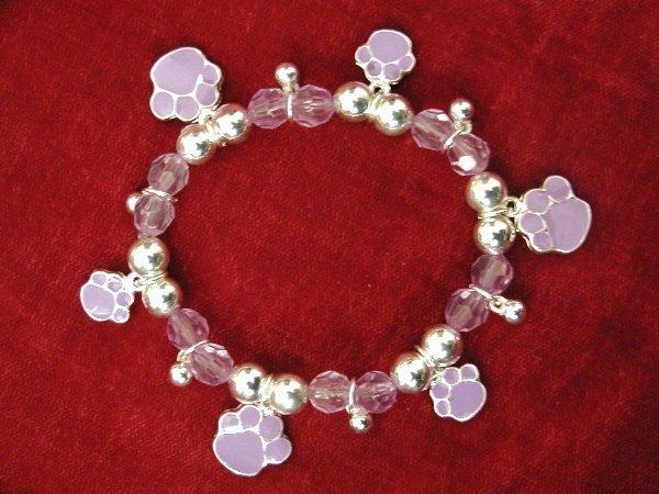 Purple Paw Print Bracelet
