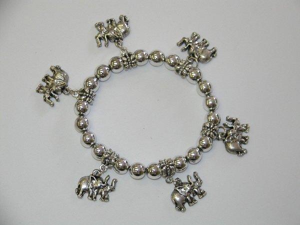 1 Silver Elephant Charm Bracelet