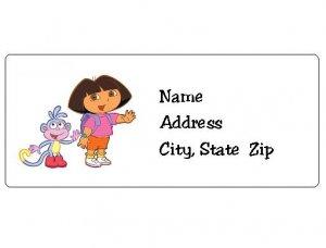 30 Personalized Dora the Explorer Return Address Labels