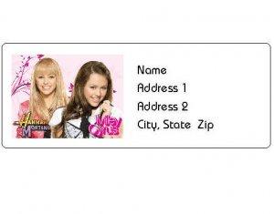 30 Personalized Hannah Montana Return Address Labels
