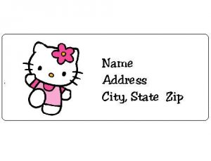 30 Personalized Hello Kitty Return Address Labels