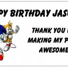 10 Personalized Sonic Party Goody Bag Labels