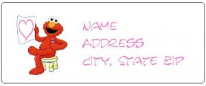 30 Personalized Cute Sesame Street Elmo Return Address Labels