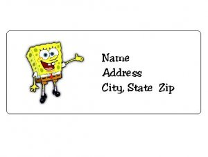 30 Personalized Spongebob Squarepants Return Address Labels