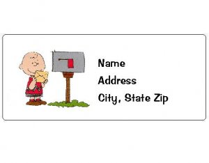 30 Personalized Charlie Brown Return Address Labels