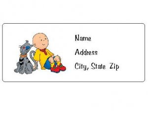 30 Personalized Caillou Return Address Labels