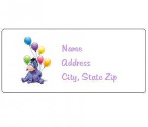 30 Personalized Eeyore Return Address Labels