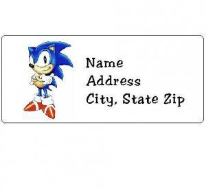30 Personalized Sonic Return Address Labels