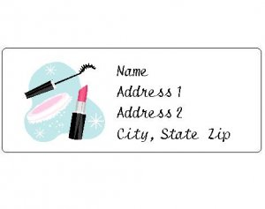 30 Personalized Make-Up Return Address Labels
