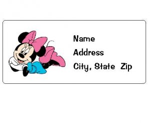 30 Personalized Minnie Mouse Return Address Labels