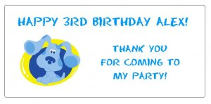 10 Personalized Blues Clues Party Goody Bag Labels