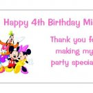10 Personalized Mickey Mouse Clubhouse Party Goody Bag Labels
